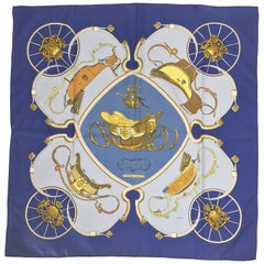 Hermes Springs Silk Twill Scarf by Philippe Ledoux 90cm x 90cm 1970s