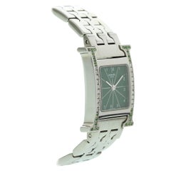Hermes Stainless Steel with Diamonds HH1.210