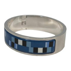 HERMES stainless steel Womens bangle blue