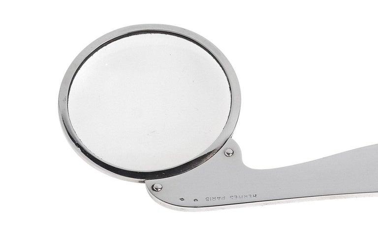 Modern Hermes Sterling Magnifier and Letter Opener For Sale