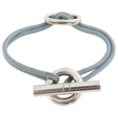 Hermes Sterling Silver Chaine D'ancre Toggle Cord Bracelet