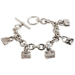 Hermès Sterling Silver Charm Bracelet