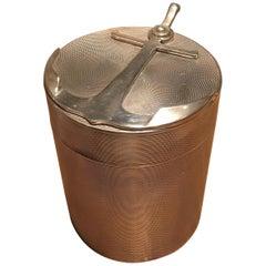 Hermès Sterling Silver Cylinder Box
