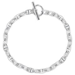 Hermes Sterling Silver D'arcre Toggle Chain Link Necklace