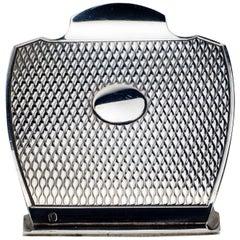 Hermès Sterling Silver Engine Turned Desk Clip