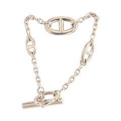 HERMES sterling silver FARANDOLE Chain Bracelet