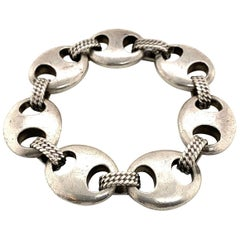 Hermes Sterling Silver Nautical Link Chain Bracelet