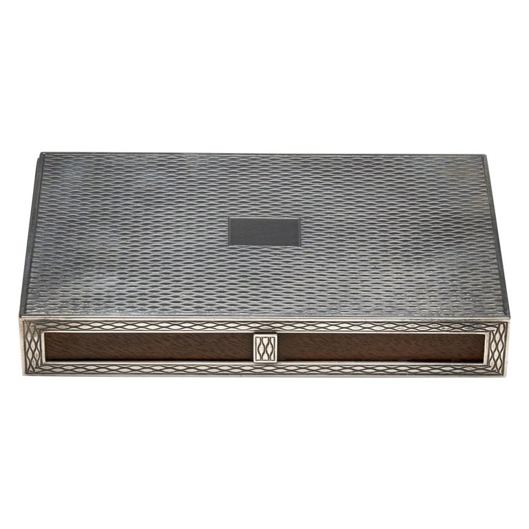 Hermes Sterling Silver Partner's Box For Sale