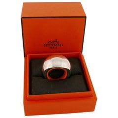 Hermès Sterling Silver Quark Ring