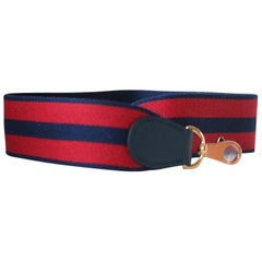 Hermès Striped Canvas Shoulder Strap