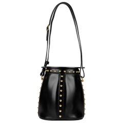 Hermès Studded Cloutè Farming Cross Body Bag Black Box Leather Gold Hardware