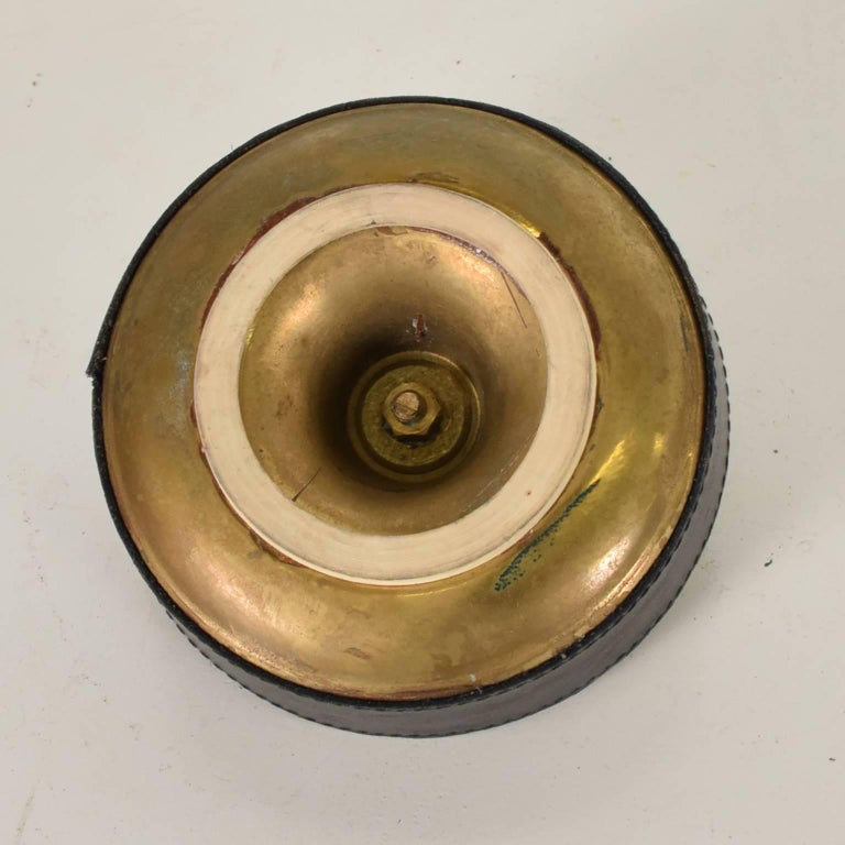 Hermes Style Brass and Leather Ashtray, Italy, 1960s For Sale 2