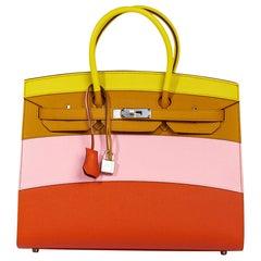Hermes Sunrise Rainbow Sellier Birkin 35 Limited Edition Bag