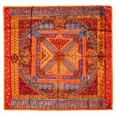 Hermes Sur Un Tapis Volant Silk Scarf by Annie Faivre 2006