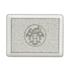 Hermes Sushi Plate Mosaique Au 24 Platinum Small Model Porcelain