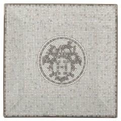 Hermes Sushi Plate Mosaique au 24 Platinum Square Model Porcelain