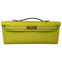 Hermes Swift Kelly Cut Clutch Yellow