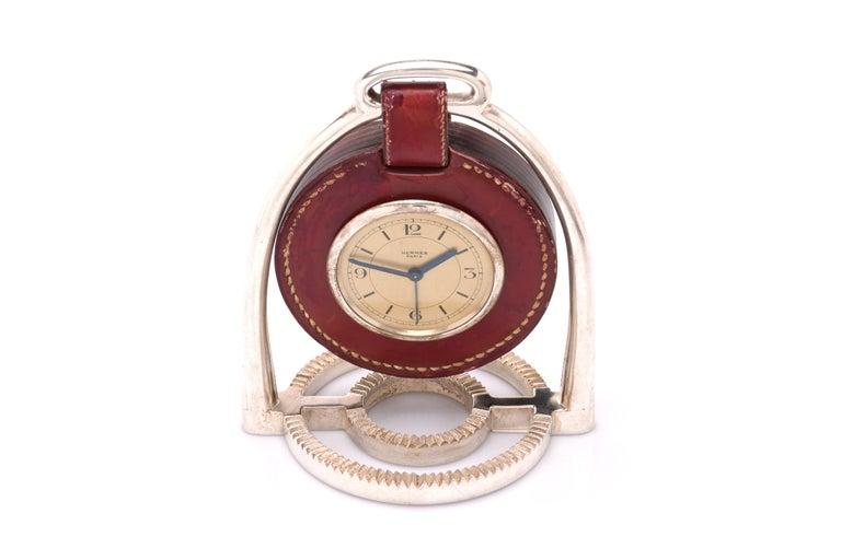 Modern Hermes Table Clock, by Paul Dupre-Lafon For Sale