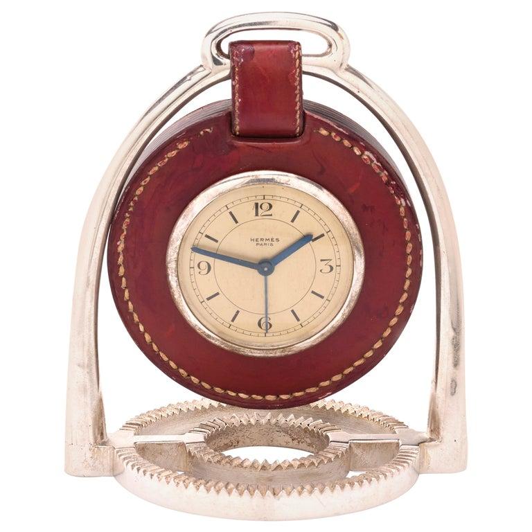 Hermes Table Clock, by Paul Dupre-Lafon For Sale