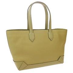 Hermes Tan Beige Leather Carryall Travel Top Handle Satchel Travel Tote Bag