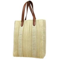 Hermes Tan Brown Leather Men's Women's Travel Top Handle Carrryall Tote Bag