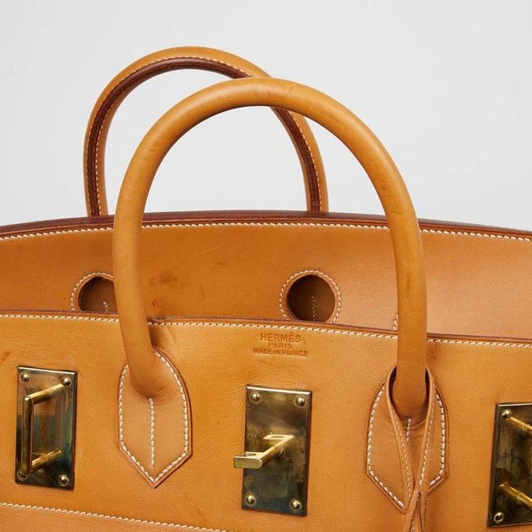 Hermes Tan Leather HAC 50 Gold Birkin Bag  For Sale 1