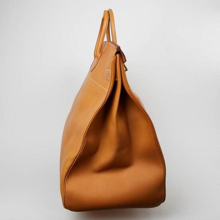 Hermes Tan Leather HAC 50 Gold Birkin Bag  For Sale 2
