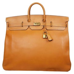Hermes Tan Leather HAC 50 Gold Birkin Bag