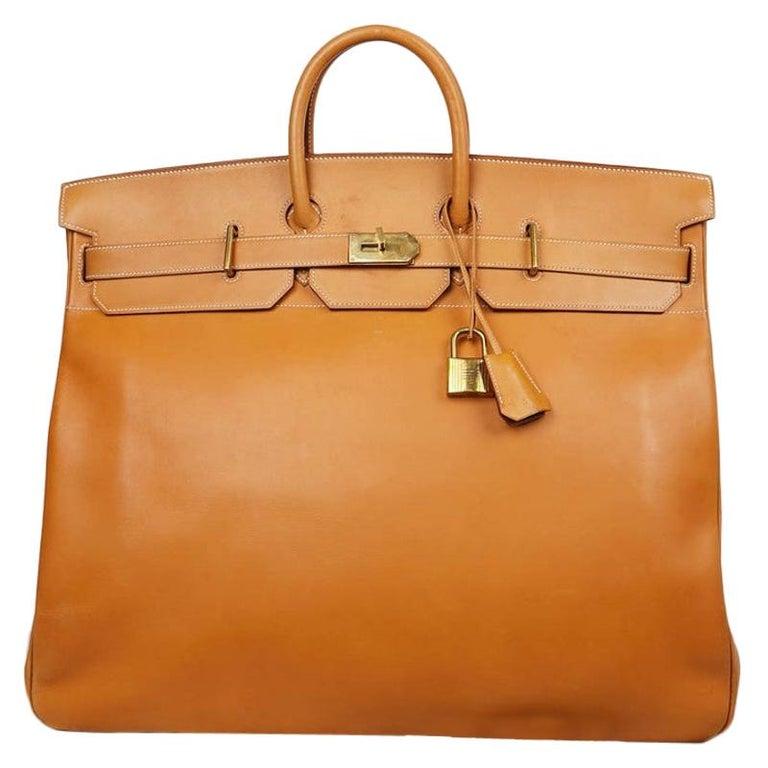 Hermes Tan Leather HAC 50 Gold Birkin Bag  For Sale