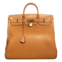 Hermes Tan leather HAC Birkin bag, size 50, c. 1998