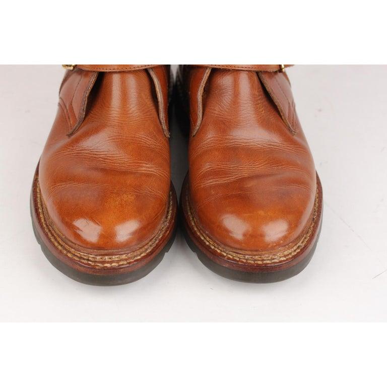 28efd73cc8e Men s Hermes Tan Leather Men Buckle Mid Calf Boots Size 41 For Sale