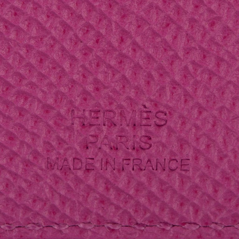 Hermes Tarmac Passport Holder Magnolia Hot Pink New w/Box For Sale 1