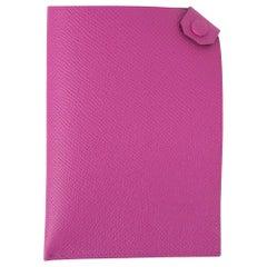 Hermes Tarmac Passport Holder Magnolia Hot Pink New w/Box