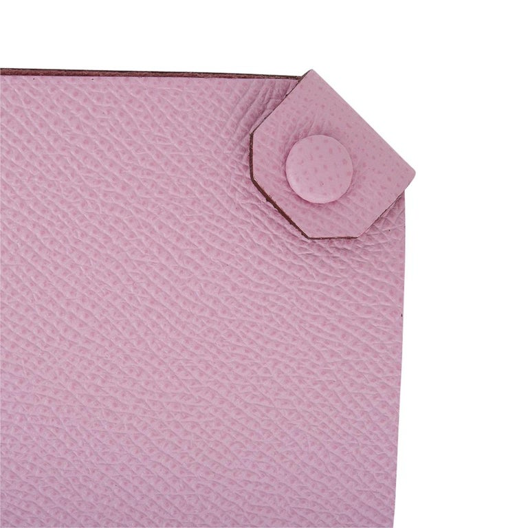 Guaranteed authentic Hermes Tarmac Passport Holder. Beautiful Mauve Sylvestre epsom leather.  Spoil yourself, or gift this luxury touch for travel.   Comes with the signature Hermes box and ribbon. Please additional colours available. New or Store