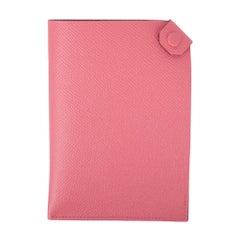 Hermes Tarmac Passport Holder Rose Azalee Pink Epsom Leather