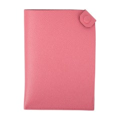 Hermes Tarmac Passport Holder Rose Azalee Pink Epsom Leather