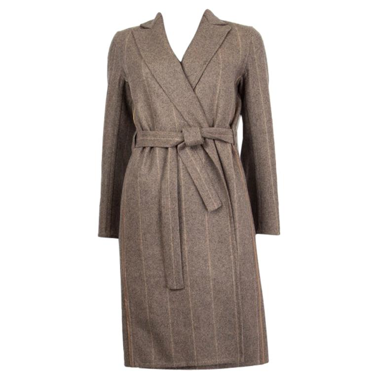 Hermes Leather Collar Belted Coat