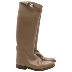 Hermes Taupe Kelly Strap Riding Boots SIZE 38