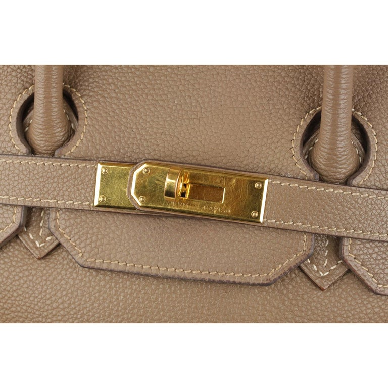 1a069734e420 Women s Hermes Taupe Togo Leather Birkin 35 Top Handle Bag Satchel For Sale