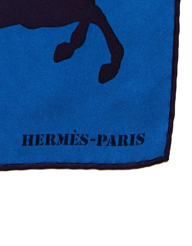 Hermes Teal/ Multi-color Ex Libris En Camouflage 90cm Silk Scarf For Sale 2