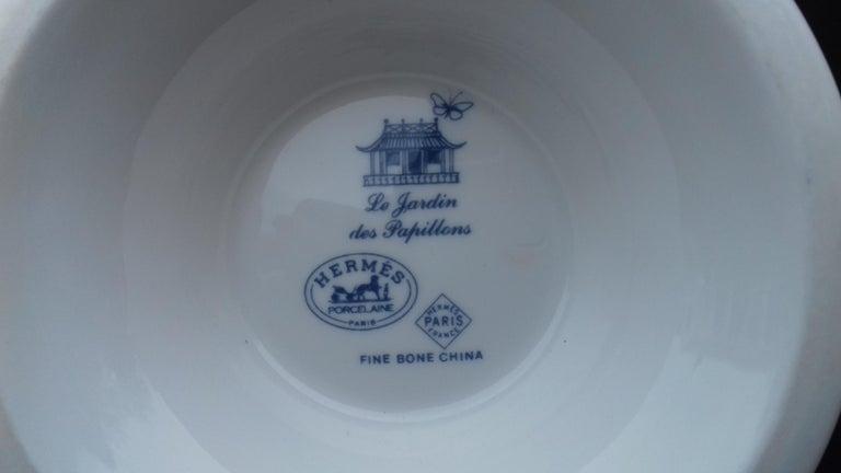 Hermès Teapot Tea Pot Porcelain Jardin des Papillons Butterflies Garden Rare For Sale 10