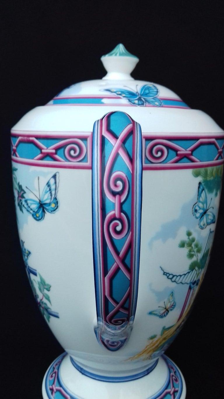 Hermès Teapot Tea Pot Porcelain Jardin des Papillons Butterflies Garden Rare For Sale 2