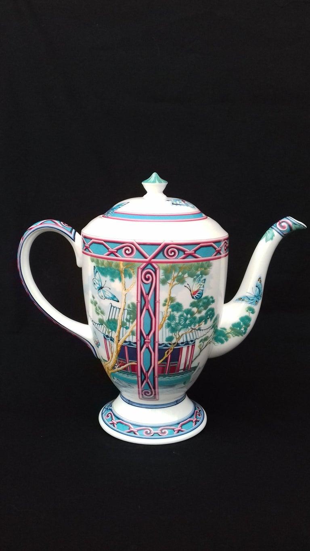Hermès Teapot Tea Pot Porcelain Jardin des Papillons Butterflies Garden Rare For Sale 3