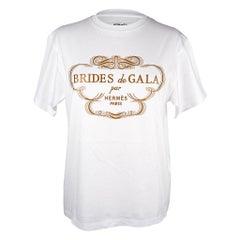 Hermes Tee Shirt White Brides de Gala Top 38 / 6 nwt