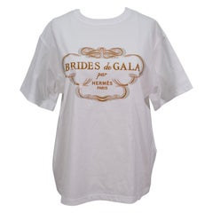 Hermes Tee Shirt White Brides De Gala Top  NEW 42