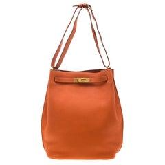 Hermes Terre Battue Togo Leather So Kelly 26 Bag