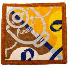 Hermes Terry Cloth Square Bath Towel