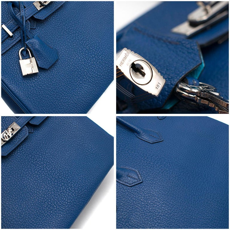 Hermes Thalassa Togo Leather 25cm Birkin Bag - Special Order For Sale 2