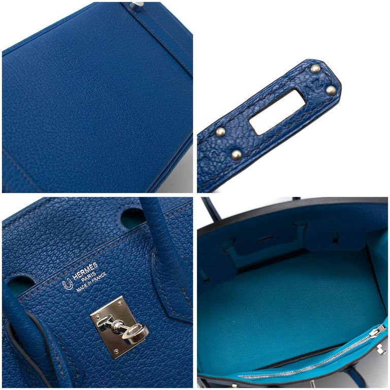 Hermes Thalassa Togo Leather 25cm Birkin Bag - Special Order For Sale 3