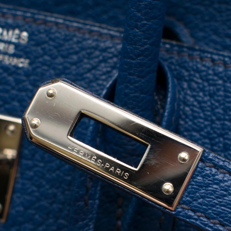 Hermes Thalassa Togo Leather 25cm Birkin Bag - Special Order For Sale 4